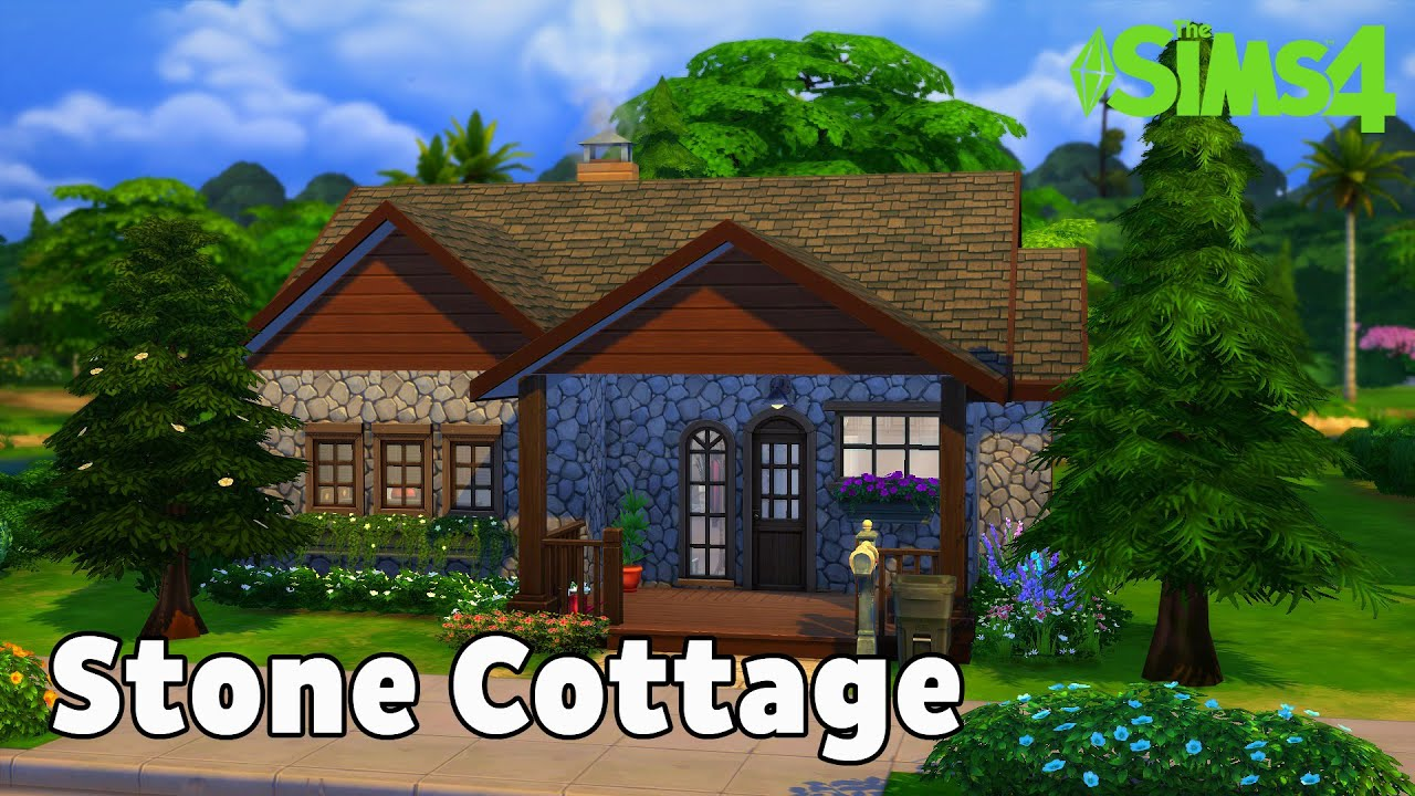 Sims 4 Speed Build Stone Cottage Youtube