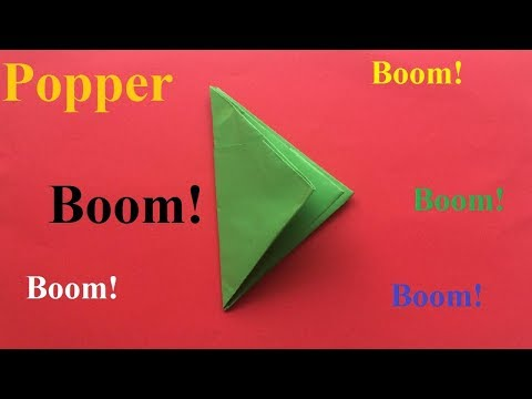 How To Make an Easy Paper Popper | Origami Beautiful and Easy Paper Popper