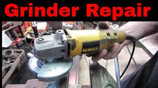 Dewalt  4 1/2 Inch Angle Grinder Fail. Can We Fix It ?