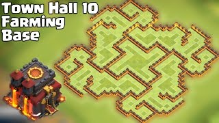 Clash of clans - Best Town Hall 10 Farming Base [Th10 The Slit] Update 275 Walls