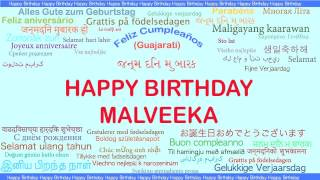 Malveeka   Languages Idiomas - Happy Birthday