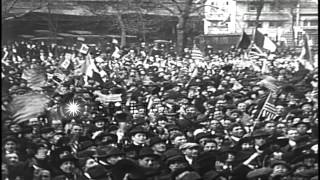 americans celebrate the armistice ending world war i hd stock footage