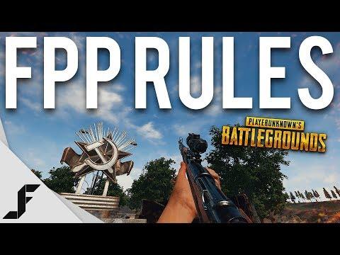 FIRST PERSON RULES - Battlegrounds