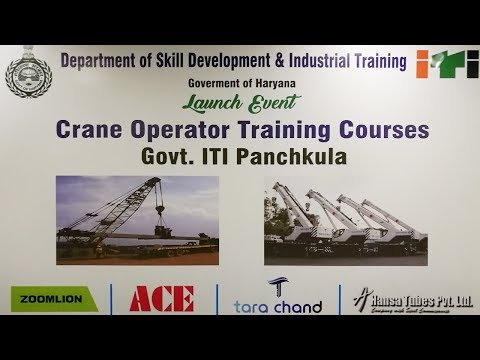 Launch Event of Crane Operator Training Courses, Government ITI, Panchkula