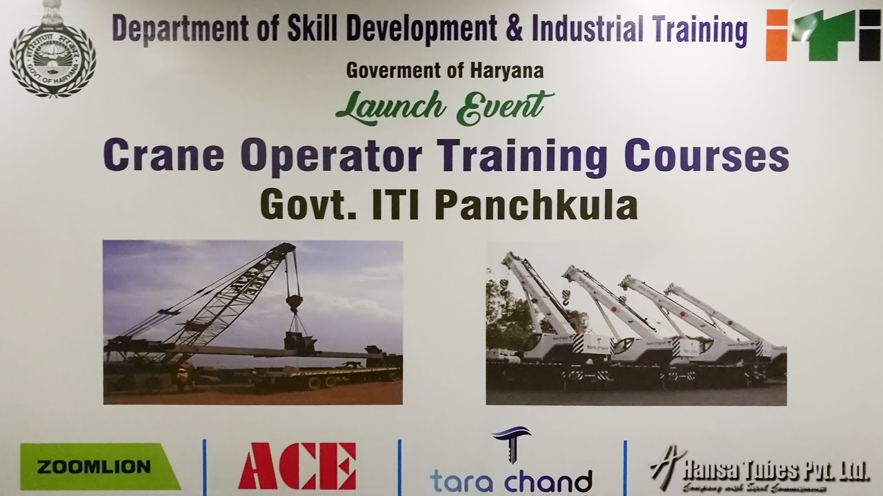 Launch Event of Crane Operator Training Courses, Government ITI