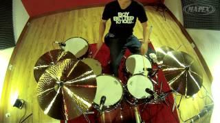 Mapex Black Panther Blaster drum kit demo