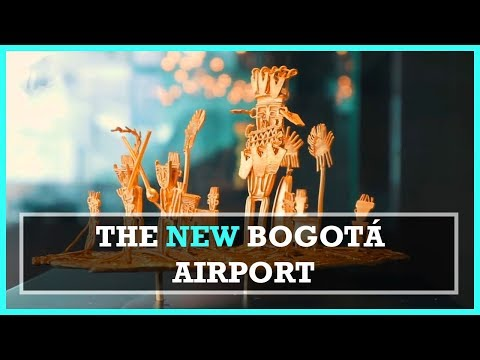 INSIDE THE NEW BOGOTA AIRPORT ft. President Santos
