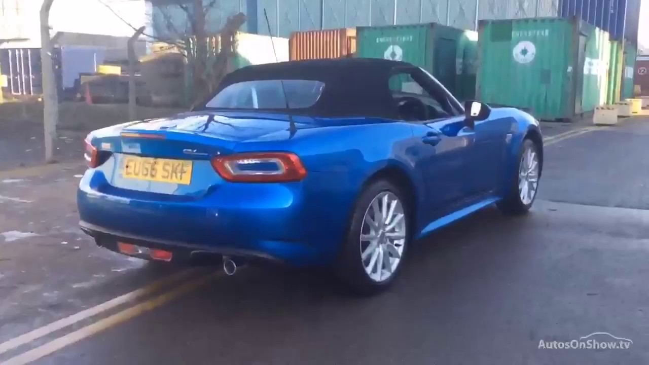 fiat 124 spider multiair lusso blue 2016 youtube. Black Bedroom Furniture Sets. Home Design Ideas