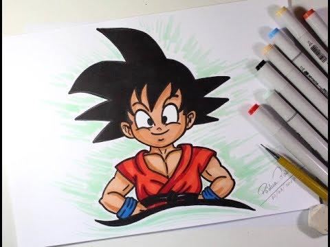 Como Desenhar O Goku Crianca De Dragon Ball Muito Facil Youtube