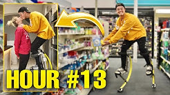 Wearing Jump Stilts For 24 Hours Straight!
