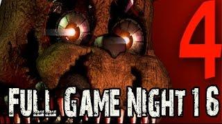 Five Nights at Freddy's 4 Full Game Walkthrough Nights 1 - 6 (Fnaf 4) Gameplay Lets