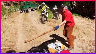 ANGRY PEOPLE - Dirt Bike Vs Angry Man