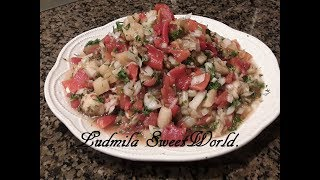 Салат из запеченных овощей .