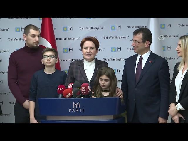 Ekrem İmamoğlu, İYİ Parti Genel Başkanı Akşener'i ziyaret etti