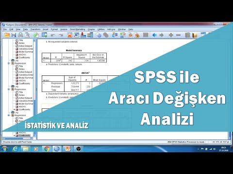 SPSS programı ile aracı değişken analizi ve hipotez testleri