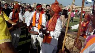 Traditional Rajasthani Music-Thali,Nagada and Dhol