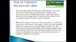 put call ratio explained in  Hindi & English Stock Market Training India Technical Analysis Software