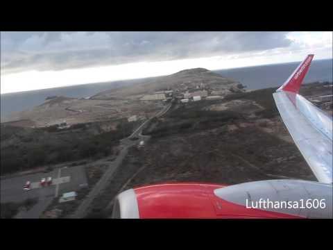airberlin Boeing 737-800 flight from Las Palmas(LPA) to Leipzig-Halle(LEJ) airport HD/3D