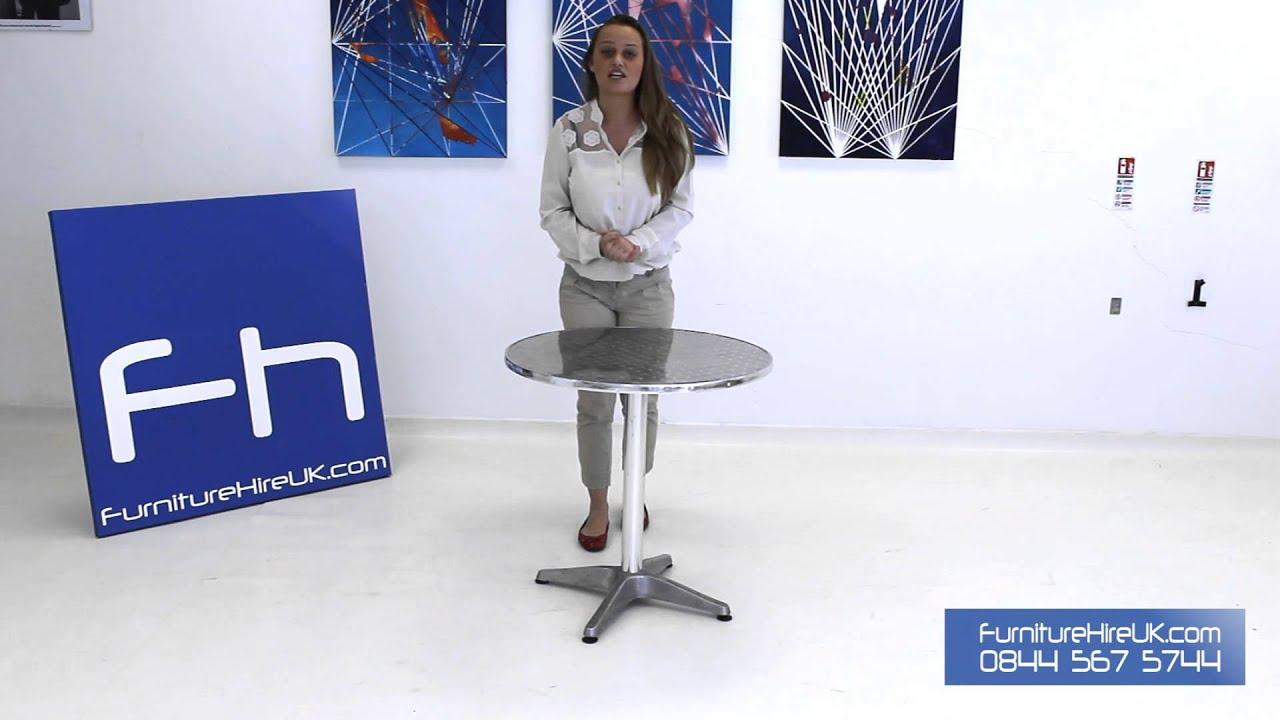 Chrome Bistro Table Demo - Furniture Hire UK