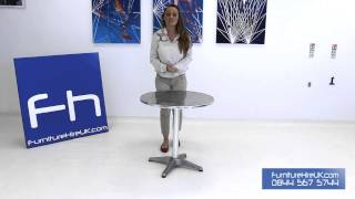 Chrome Bistro Table Demo - Furniture Hire Uk