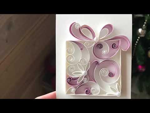 QllArt | Quilling Christmas Gift | Квиллинг открытка своими руками «Подарок»