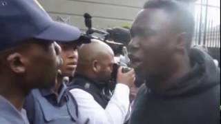 Protesters Clash with Police Outside Gupta Compound