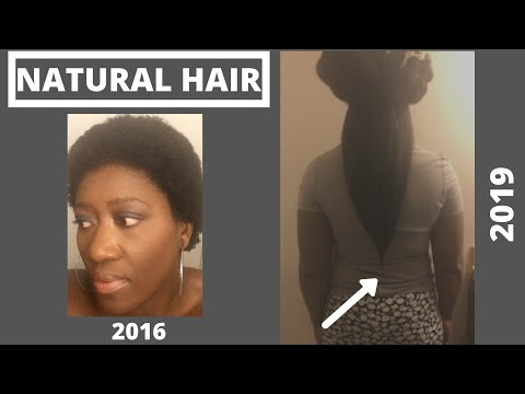 Natural Hair - 3 Years Length Check - 2019