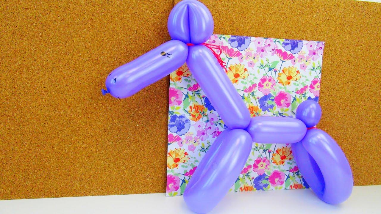 Ballontiere Pferd Formen Tiere Aus Ballons Für Kindergeburtstage Lernen Balloon Animals