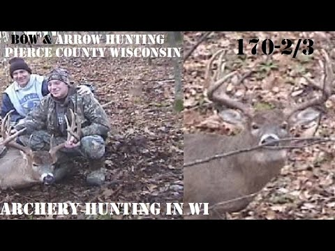 Pierce County WI bow Killed buck 170-2/8 MONSTER BUCK with scent line bow hunt
