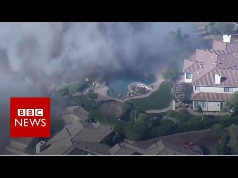 Wildfire: Aerial photographs present devastation – BBC Information