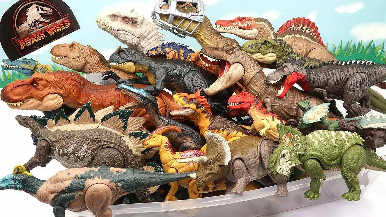 60 Dinosaur BOX Is Full Dinosaur Name And Sound-Jurassic World Real Dino T-Rex Indominus 공룡박스