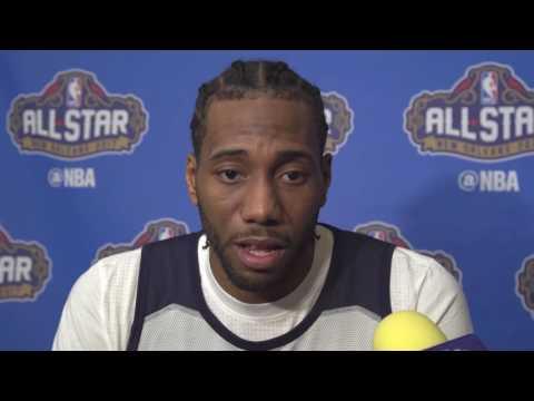 Kawhi Leonard Interview talks about media attention & more - 2017 NBA All-Star (2/18/2017)
