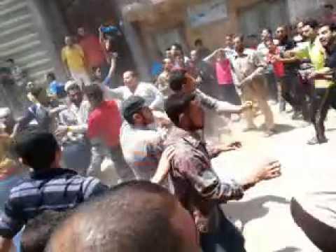 اعتداء بلطجية السيسي بالشبول دقهلية علي مسيرة ضد السفاح السيسي