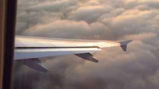 Вылет самолета Airbus 320 из Санкт-Петербурга (fm LED)