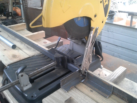 Chop Saw Table Video- How To: Cheap and very, very effective.