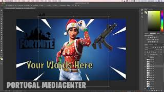 Template Thumbnail Free for Fortnite