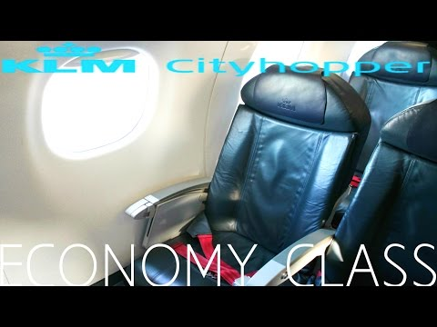 KLM Cityhopper ECONOMY CLASS Bristol to Amsterdam|Embraer 190