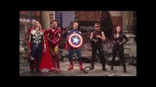 Jeremy Renner as HAWKEYE The Avengers Saturday Night Live Skit part 9/9