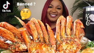 GIANT SPICY DUNGENESS CRAB LEGS , SEAFOOD BOIL MUKBANG 먹방쇼 シーフード