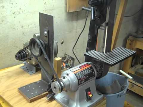 Homemade belt sander machine