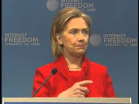 Hillary Clinton Speaks on Internet Freedom 480p