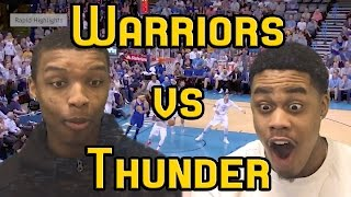 THREE POINT SHOOTING GODS GS Warriors Vs OKC Thunder 3 21 2017 FULL HIGHLIGHTS AND REACTION