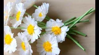ПОДАРКИ УЧИТЕЛЮ, МАМЕ СВОИМИ РУКАМИ.Что Сделать на День Матери - Учителя 🌼 из бумаги цветок ромашка🌼