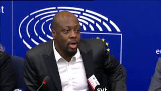 Wyclif Jean press conference on copyright directive in the European Parliament