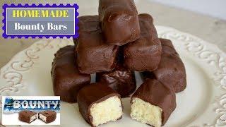 Homemade Bounty chocolate | How To Make Bounty Bar at home | घर पर बाउंटी बार चॉकलेट बनाये 5 चीजो से