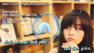 [Karaoke HD] Đơn Giản Anh Yêu Em - Hồ Quốc Việt _ VTS