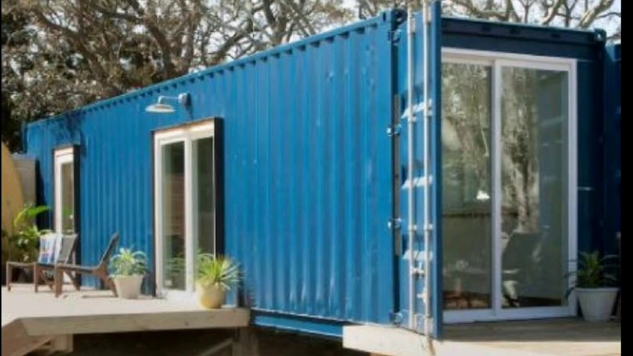 Shipping container tiny home in North Carolina.