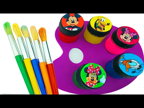Thumbnail: Learn Color Play Doh Mickey Mouse Hand Body Paint Nursery Rhymes Finger Family