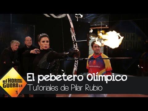 Pilar Rubio consigue encender el pebetero olímpico, en honor a Barcelona