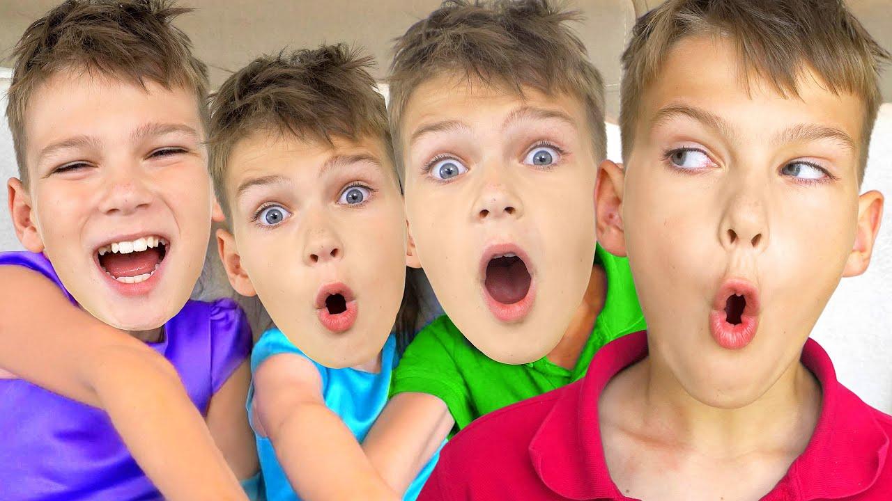 قصص اطفال قبل - النوم والعاب بنات ,قصة أطفال صغار أقنعة Five Kids